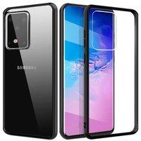 Прозрачная накладка с черным бампером для Samsung Galaxy S20 Ultra