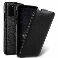 Черный кожаный чехол флип для Samsung Galaxy S20 Plus