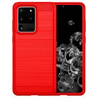 Красный защитный противоударный силиконовый чехол для Samsung Galaxy S20 Ultra