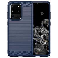 Синий защитный противоударный силиконовый чехол для Samsung Galaxy S20 Ultra