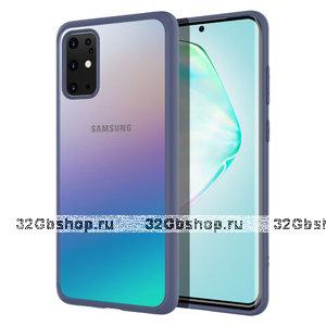 Синий силиконовый чехол бампер для Samsung Galaxy S20 Plus