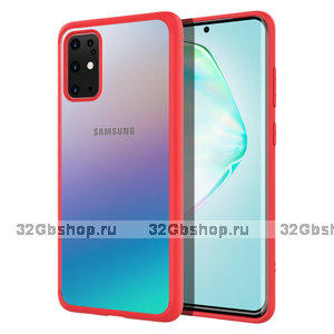 Красный силиконовый чехол бампер для Samsung Galaxy S20 Plus