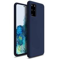 Темно-синий силиконовый чехол для Samsung Galaxy S20 Plus