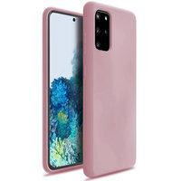 Розовый силиконовый чехол для Samsung Galaxy S20 Plus