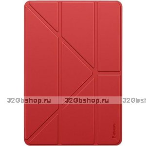 Красный чехол книжка Baseus Jane Y-Type Leather Red для iPad 10.2 2019