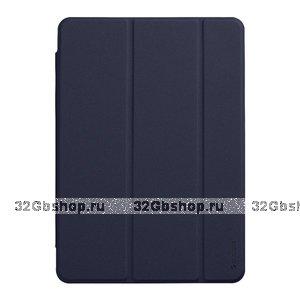 Синий чехол-подставка Wallet Onzo Basic Blue Soft Touch 1.0мм для Apple iPad 10.2 2019