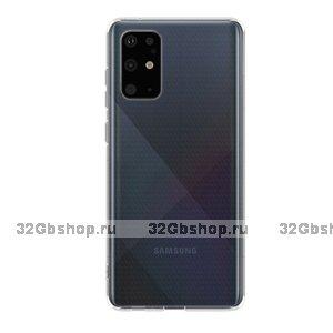 Прозрачный силиконовый чехол Deppa Gel Case для Samsung Galaxy S20 Plus