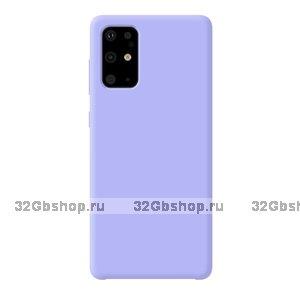 Фиолетовый пластиковый чехол Deppa Liquid Silicone Case Purple для Samsung Galaxy S20 Plus с силиконовым покрытием