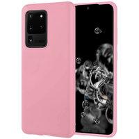 Розовый матовый силиконовый чехол накладка для Samsung Galaxy S20 Ultra
