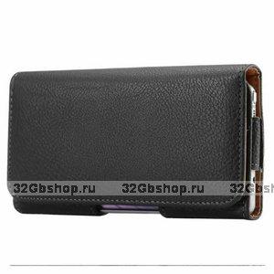 Черный кожаный чехол кобура на пояс для Samsung Galaxy S20 Ultra