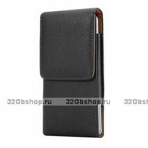 Черный кожаный чехол вертикальная кобура для Samsung Galaxy S20 Ultra