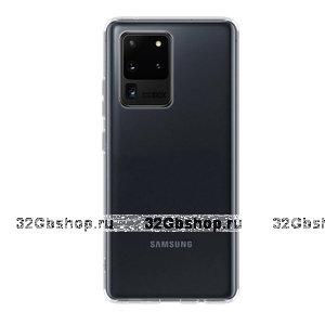 Прозрачный силиконовый чехол Deppa Gel Case Basic для Samsung Galaxy S20 Ultra