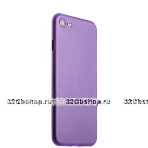 Фиолетовый тонкий пластиковый чехол iPhone SE 2