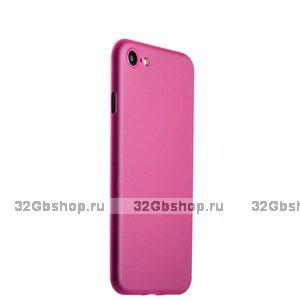 Розовый тонкий пластиковый чехол iPhone SE 2020