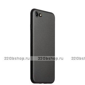 Черный тонкий пластиковый чехол iPhone SE 2020