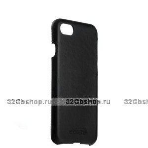 Черная кожаная накладка для iPhone SE 2 - Valenta Back Cover Classic Style
