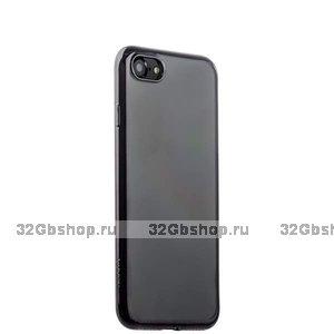 Прозрачный силиконовый чехол с черным бампером для iPhone SE 2