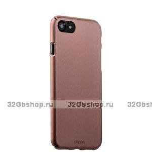 Пластиковый чехол для iPhone SE 2 New розовое золото - Deppa Soft touch Air Case Pink Gold