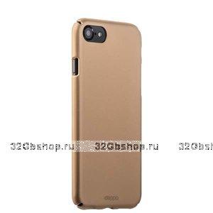 Золотой пластиковый чехол для iPhone SE 2 New - Deppa Soft touch Air Case Gold