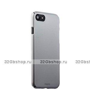 Серебряный пластиковый чехол для iPhone SE 2 New - Deppa Soft touch Air Case Silver