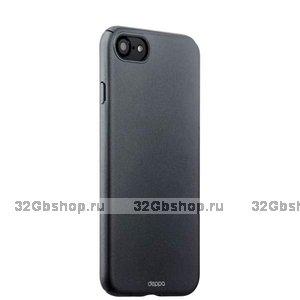 Черный пластиковый чехол для iPhone SE 2 New - Deppa Soft touch Air Case Black