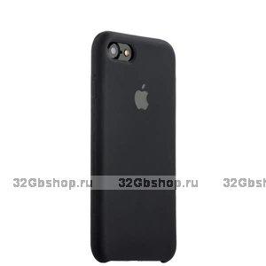 Черный силиконовый чехол Silicone Case Black для iPhone SE 2