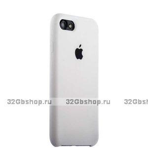 Белый силиконовый чехол Silicone Case White для iPhone SE 2