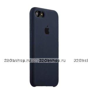 Темно-синий силиконовый чехол Silicone Case Midnight Blue для iPhone SE 2