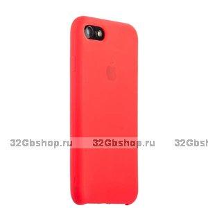 Красный силиконовый чехол Silicone Case Red для iPhone SE 2