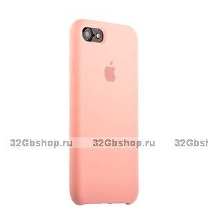 Розовый силиконовый чехол Silicone Case Pink для iPhone SE 2