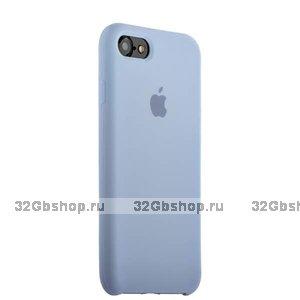 Сиреневый силиконовый чехол Silicone Case Pale Lilac для iPhone SE 2