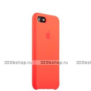 Оранжевый силиконовый чехол Silicone Case Orange для iPhone SE 2