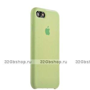 Зеленый силиконовый чехол Silicone Case Forest Green для iPhone SE 2