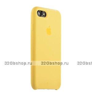 Желтый силиконовый чехол Silicone Case Yellow для iPhone SE 2