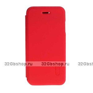 Красный кожаный чехол книга подставка для iPhone 6s / 6 (4.7)