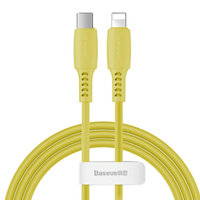 Желтый дата-кабель Type-C - Lightning для iPhone 1.2м - Baseus Colorful Yellow 18W 480Mbps CATLDC-0Y
