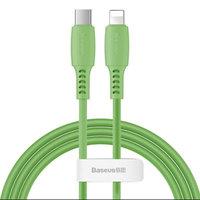 Зеленый дата-кабель Type-C - Lightning для iPhone 1.2м - Baseus Colorful Green 18W 480Mbps CATLDC-06