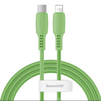 Зеленый дата-кабель Type-C - Lightning для iPhone 1.2м - Baseus Colorful Green 18W 480Mbps CATLDC-06