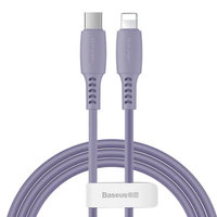 Фиолетовый дата-кабель Type-C - Lightning для iPhone 1.2м - Baseus Colorful Purple 18W 480Mbps CATLDC-05