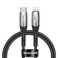 Черный дата-кабель 2 метра Type-C - Lightning для iPhone - Baseus Horizontal PD Flash 18W 9V-2.0A/ 5V-2.4A