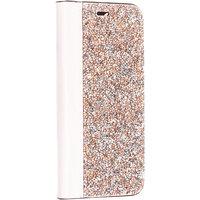 Розовый кожаный чехол книга со стразами для iPhone 11 Pro Max