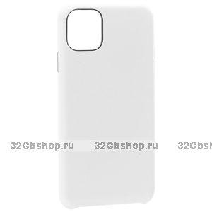 Белый кожаный чехол накладка для iPhone 12 Pro Max