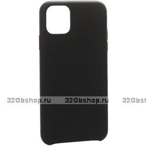 Черный кожаный чехол накладка для iPhone 12 Pro Max