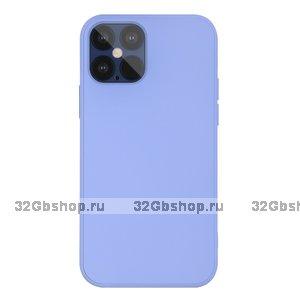 """Голубой силиконовый чехол для iPhone 12 Pro Max (6.7"""")"""