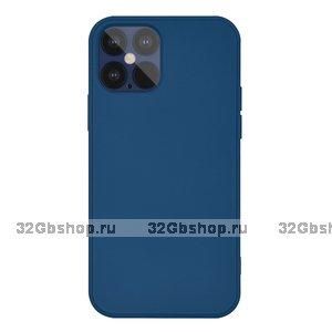 """Синий силиконовый чехол для iPhone 12 Pro Max (6.7"""")"""