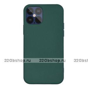 """Темно-зеленый силиконовый чехол для iPhone 12 Pro Max (6.7"""")"""