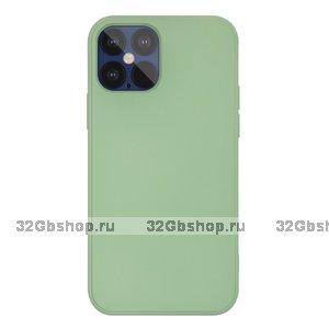 """Зеленый силиконовый чехол для iPhone 12 Pro Max (6.7"""")"""