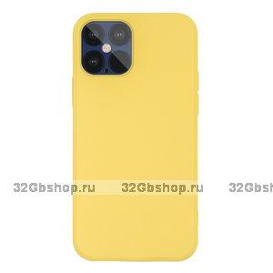 """Желтый силиконовый чехол для iPhone 12 Pro Max (6.7"""")"""