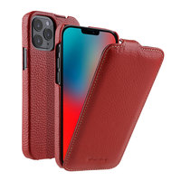 Красный кожаный чехол флип для iPhone 12 Pro Max - Premium Leather Jacka Type Red