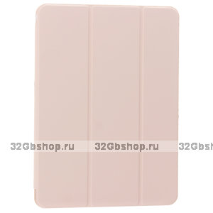 Розовый чехол-книжка для iPad Air 4 2020 - Baseus Simplism Magnetic Leather Case Pink